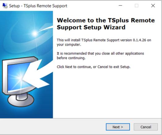 screenshot installation Remote Support